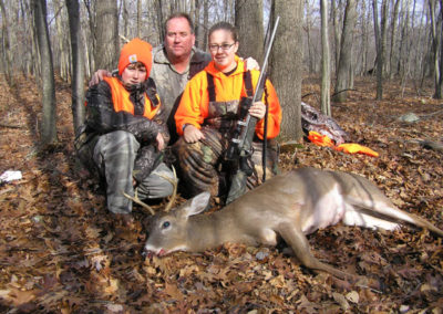 Corrine Martinko and her first buck from Monroe Co.