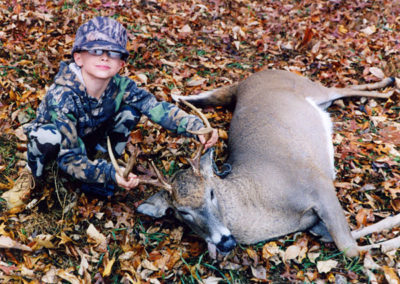 Zach with Dad's Deer